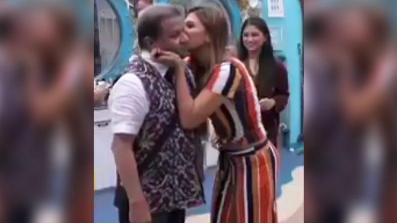 Bigg Boss 12 : जसलीनने सर्वांसमोर केले अनूपजींना किस ; व्हिडिओ व्हायरल