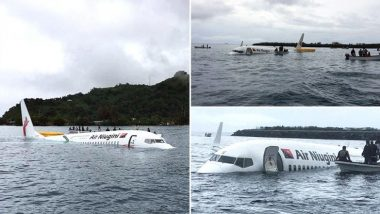 विमान अपघात :  रनवेऐवजी थेट पाण्यात घुसलं विमान, 47 प्रवाशांना बचावण्यात यश