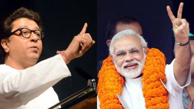 नरेंद्र मोदी प्रसिद्धी विनायक! राज ठाकरेंचे कुंचल्यातून फटकार