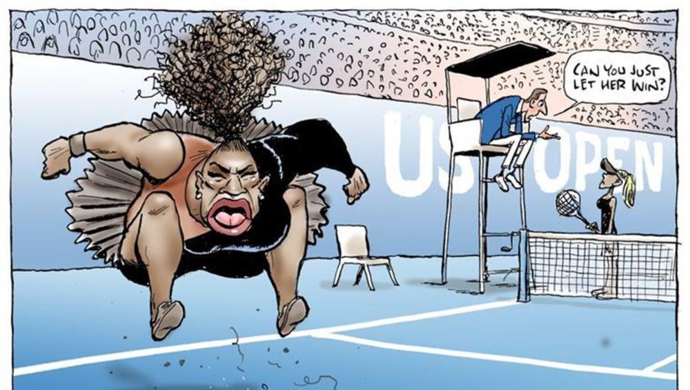 ऑस्ट्रेलियातील वृत्तपत्राने पुन्हा एकदा छापले सेरेनाचे 'वादग्रस्त' व्यंगचित्र