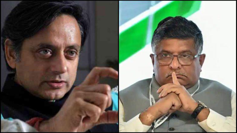 पंतप्रधान नरेंद्र मोदींबाबत वादग्रस्त वक्तव्य; काँग्रेस नेते शशी थरुर विरुद्ध केंद्रीय मंत्री रविशंकर प्रसाद सामना रंगला