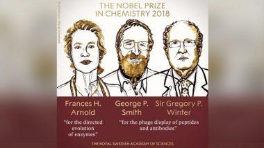 Nobel Prize 2018 : रसायनशास्त्र विभागातील नोबेल पुरस्काराची घोषणा