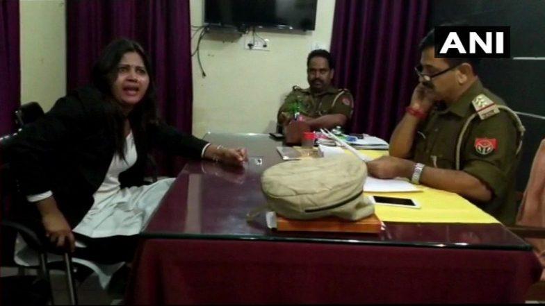 दारुच्या नशेतील महिला वकिलाची पोलिसांवर दादागिरी