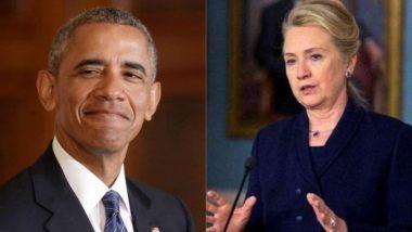 बराक ओबामा ,हिलेरी क्लिंटनच्या अमेरिकेतील राहत्या घरातून स्फोटक पदार्थ जप्त