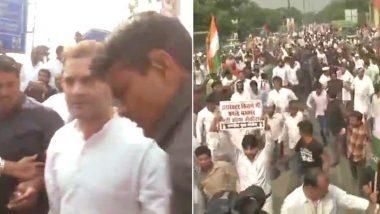 राफेल वाद: CBI मुख्यालयाबाहेर काँग्रेसचे आंदोलन; राहुल गांधींना अटक, लगेचच सुटका