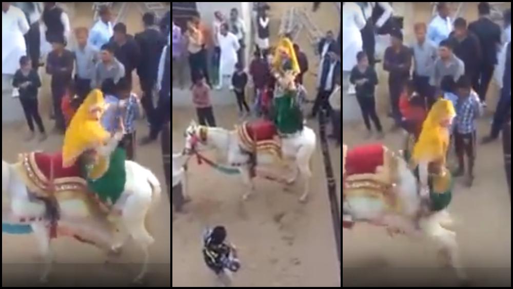 घोड्याला नाही आवडला महिलेचा अचरट डान्स; दिली शिक्षा, घडली जन्माची अद्दल (व्हिडिओ)