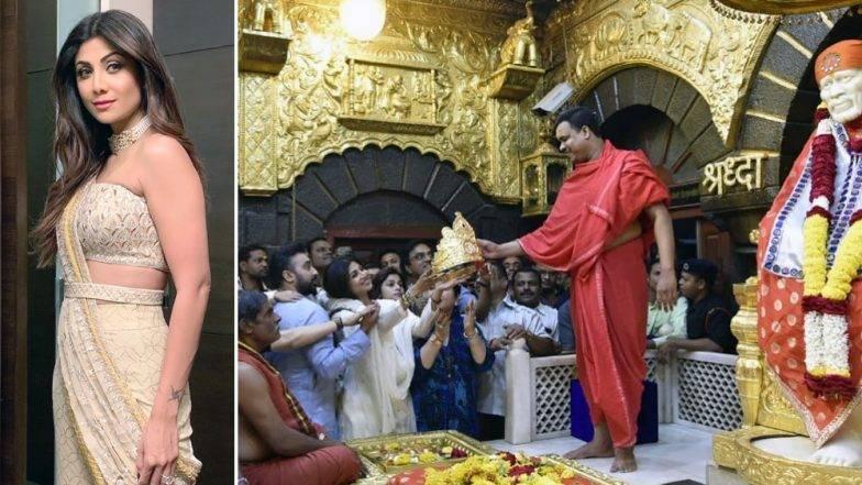 शिर्डीच्या साईबाबा मंदिरात शिल्पा शेट्टी दर्शनाला,  25.75 लाखाचा सोन्याचा मुकुट केला दान