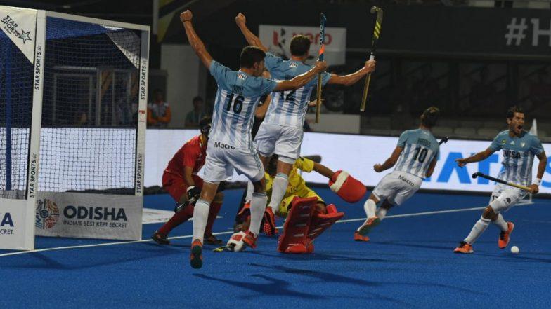 Hockey World Cup 2018: Argentina Team चा Spain Team विरुद्ध 4-3 ने दणदणीत विजय
