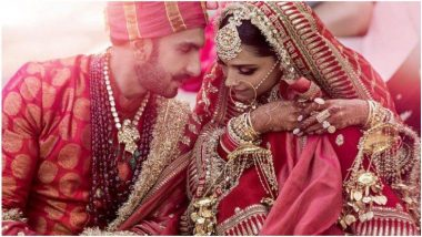 Deepika Ranveer Wedding : दीपिका पदुकोणच्या ब्रायडल लूकमधील चुनरीवर 'सदा सौभाग्यवती भव' आर्शिवाद