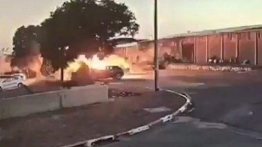 इस्रायल हवाई हल्ला ; गाझातील टिव्ही चॅनेलची इमारत उध्वस्त