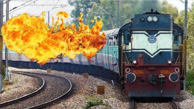 पश्चिम रेल्वेसेवा विस्कळीत; डहाणूजवळ मालगाडीच्या डब्यांना आग
