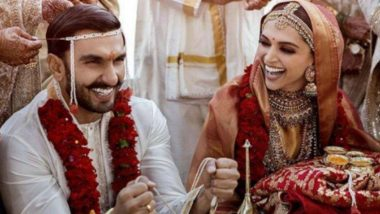 Deepika Ranveer wedding photo : दीपिका रणवीरच्या लग्नाचा पहिला फोटो