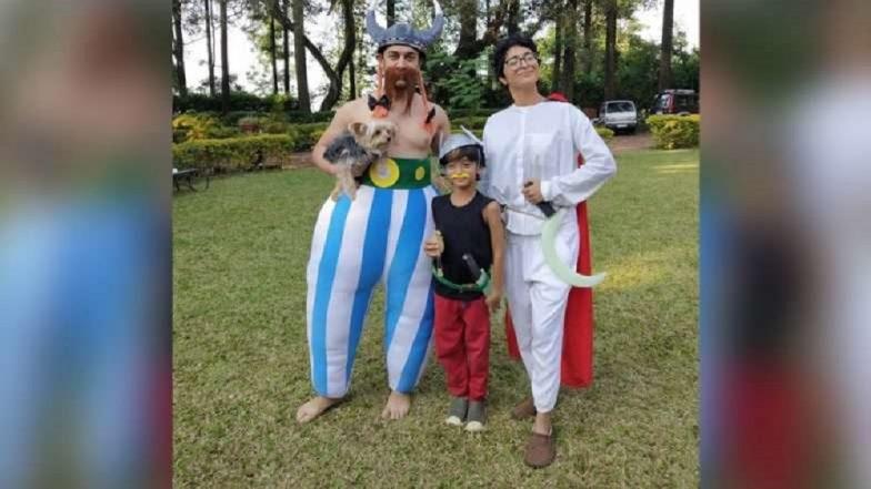 मुलगा आजादच्या पार्टीसाठी आमिर खानचा कार्टून अवतार (Photos)