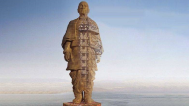 Statue of Unity अवकाशातून कसा दिसतो? (Photo)
