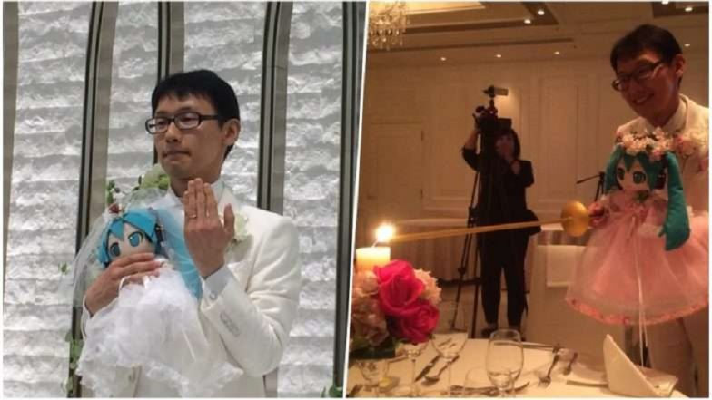 जपानी तरुणाने hologram बाहुलीशी केले लग्न, पाहा या आगळ्यावेगळ्या लग्नाचे फोटोज