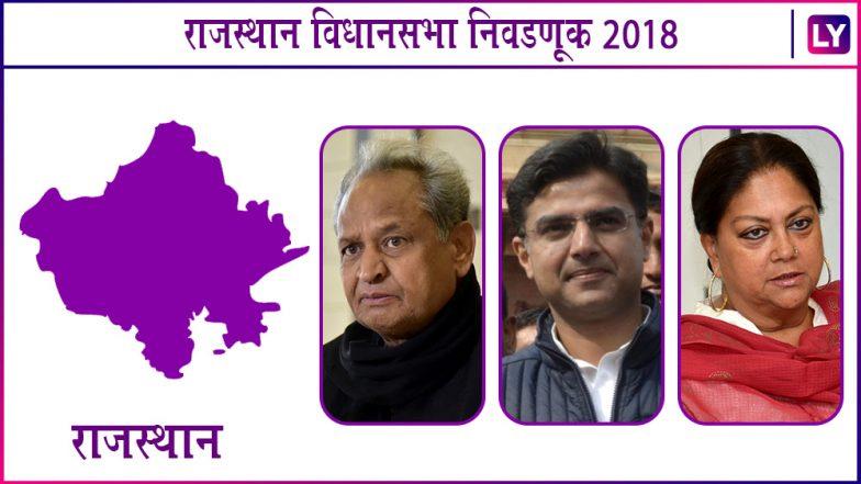 Rajasthan Assembly Elections 2018 Exit Poll: राजस्थानमध्ये जनादेश काँग्रेसच्या बाजूने, भाजप सत्तेतून पायऊतार होण्याची शक्यता