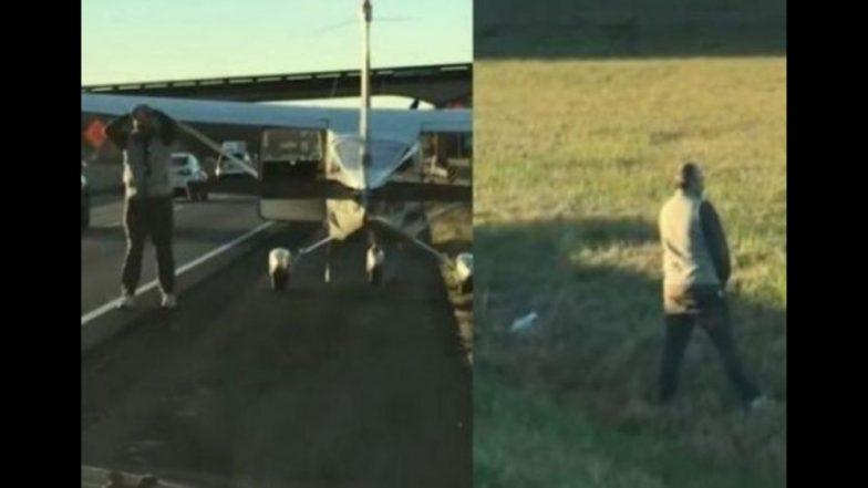 Video : हायवेवर विमान उतरवून पायलट गेला सू-सू करायला