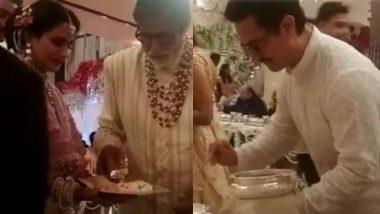 Isha Ambani च्या विवाहसोहळ्यात बॉलिवूड कलाकर बनले वाढपी, सोशल मिडियावर व्हिडिओ व्हायरल