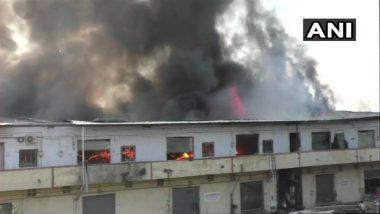 Bhiwandi Fire : भिवंडी येथे लागलेल्या भीषण आगीत 11 गोदामं जळून खाक