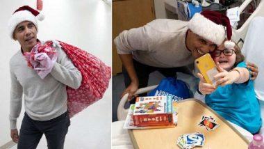 Santa Claus बनून Barack Obama नी रुग्णालयातील मुलांना केले गिफ्टचे वाटप (Video)
