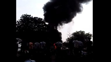 भिवंडी येथे गोदामाला आग; अग्निशमन दलाच्या गाड्या घटनास्थळी दाखल
