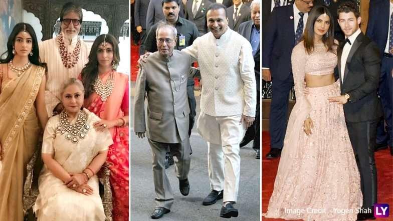 Isha Ambani-Anand Piramal Wedding : हिलेरी क्लिंटन, प्रणव मुखर्जीसह अनेक बॉलीवूड कलाकारांची मांदियाळी; पाहा फोटोज