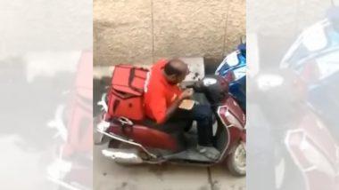 Video: Zomato चे पार्सल घेऊन येणाऱ्या तरुणाचा पाहा प्रताप