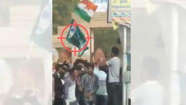 Rajashtan येथे काँग्रेसच्या विजयानंतर कार्यकर्त्यांच्या हातात पाकिस्तानी झेंडा?