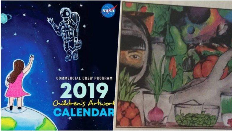 नासा कॅलेंडर 2019: भारतीय कन्या दीपशिखा हिचे चित्र मुखपृष्ठावर; महाराष्ट्राच्या इंद्रयुद्धच्या कलेलाही मानाचे स्थान