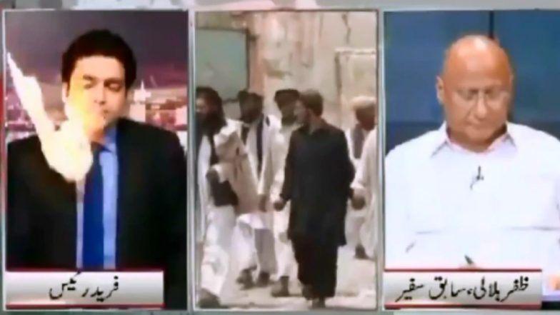 Viral Video : जेव्हा Live Anchoring दरम्यान पाकिस्तानी पत्रकारावर आला आगीचा गोळा