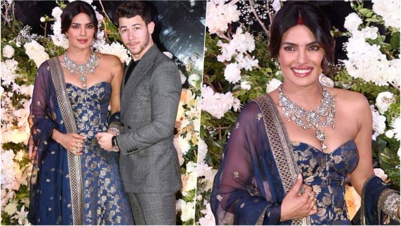 Priyanka Nick Wedding Mumbai Reception Party:  प्रियंका-निकच्या मुंबई रिसेप्शन पार्टीला आदिनाथ- उर्मिला कोठारे, उषा जाधव या मराठमोळ्या कलाकारांची उपस्थिती (Photos)