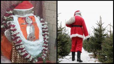 Christmas 2018: गणपतीला सांताक्लॉजचे कपडे घातल्यने तणाव