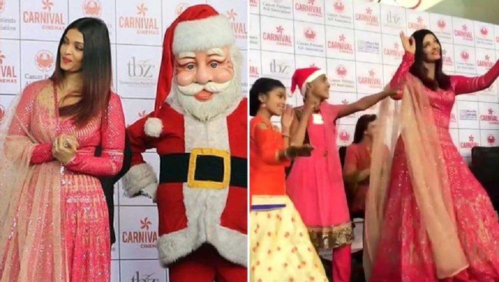 Aishwarya Rai चे कॅन्सर पीडित मुलांसोबत ख्रिसमस सेलिब्रेशन; 'या' लोकप्रिय गाण्यावर ठरला ठेका  (Video)