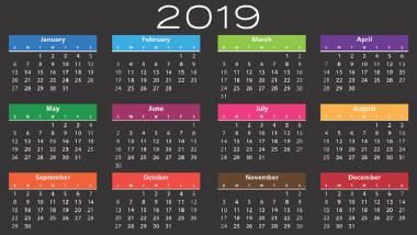 Holiday Calendar 2019 : पहा नवीन वर्षाच्या सुट्ट्यांची आणि लाँग वीकेंडची संपूर्ण यादी; असे करा नियोजन