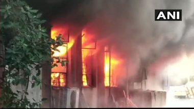 भिवंडीत कापड कारखान्यात भीषण आग