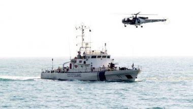 तटरक्षक दलाची मोठी कामगिरी; समुद्रात सहा बोटींचा पाठलाग करून 14 संशयित ताब्यात