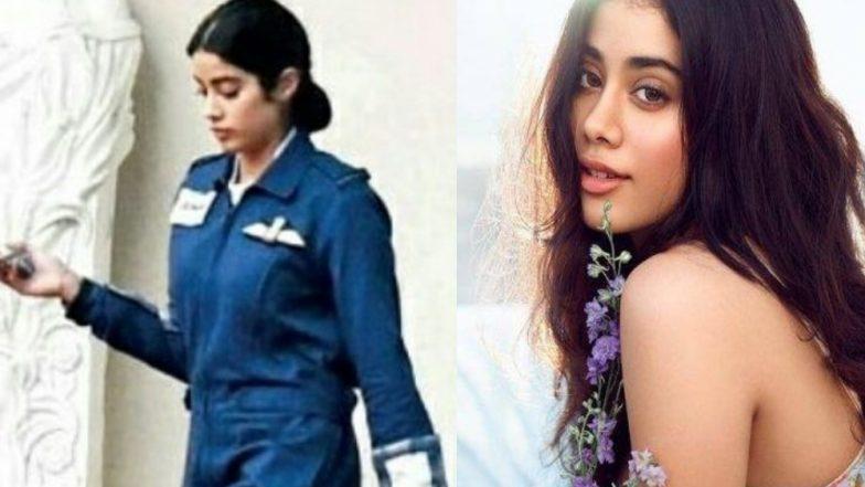 First Look: भारताच्या पहिल्या महिला लेफ्टनंट Gunjan Saxena यांच्या भूमिकेतील Janhvi Kapoor ची पहिली झलक