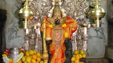 Kolhapur Mahalaxmi Navratri 2021: शारदीय नवरात्रीच्या पार्श्वभूमीवर कोल्हापूरच्या अंबाबाई मंदिरात देवीच्या साजश्रृंगाराची तयारी सुरू