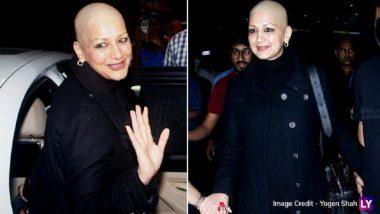 न्यूयॉर्कमधील उपचारानंतर कॅन्सरग्रस्त Sonali Bendre मायदेशी परतली (Photos)