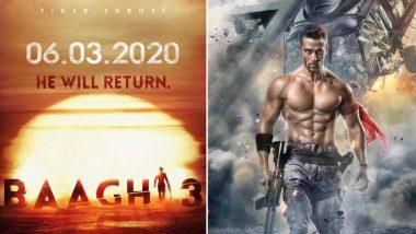 Baaghi 3 Poster : Tiger Shroff ने Instagram वर शेअर केलं बागी 3 सिनेमाचं पहिलं पोस्टर