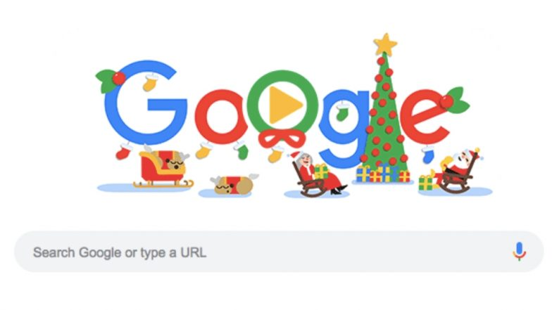 CHRISTMAS 2018: HAPPY HOLIDAYS म्हणत गुगलने दिलेल्या Animated Doodle च्या माध्यमातून ख्रिसमसच्या शुभेच्छा
