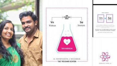 इंटरनेटवर व्हायरल होतेय 'Chemistry Teacher Couple' ची लग्न पत्रिका, Shashi Tharoor पासून सामान्य नेटकर्यांना पडली भूरळ