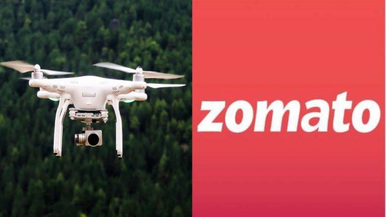 Zomato Drone ची चाचणी यशस्वी, 10 मिनिटांत पोहोचवले 5 किलो वजनाचे खाद्यपदार्थ