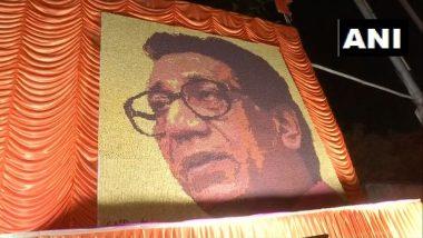 Balasaheb Thackeray Birth Anniversary: शिवसेना भवनासमोर 33000 रुद्राक्षांनी साकारले हुबेहुब बाळासाहेब! (Photos)
