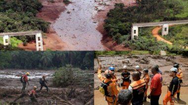 ब्राझीलमध्ये बंधारा फुटल्याने मोठा प्रलय; 11 जणांचा मृत्यू तर 300 जण वाहून गेल्याची भीती