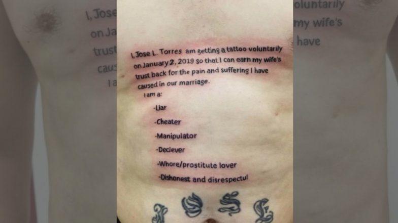 रागावलेल्या बायकोची समजूत काढण्यासाठी नवऱ्याने लढवली हटके शक्कल, 'असा' टॅटू काढून मागितली माफी