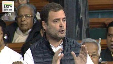 राफेल घोटाळा टेप: राहुल गांधी आक्रमक; लोकसभेत गदारोळ, कामकाज तहकूब