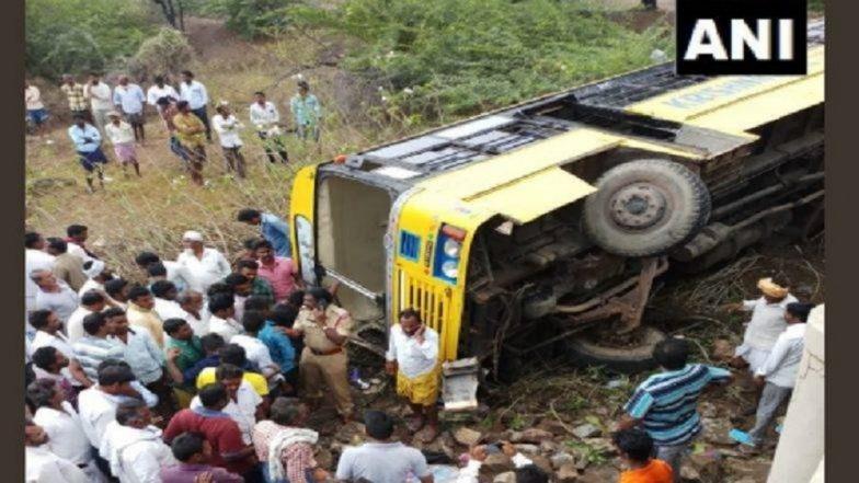 आंध्र प्रदेश: स्कूल बस अपघातात 15 विद्यार्थी जखमी; दोघांची प्रकृती गंभीर