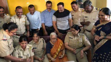 मुंबई पोलिसांनी साजरा केला एकट्या राहणार्या ललिता सुब्रमण्यम यांचा 85 वा वाढदिवस