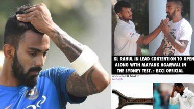 India vs Australia 4th Test: KL Rahul च्या खराब कामगिरीवर सोशल मीडियात टीका, मीम्स व्हायरल